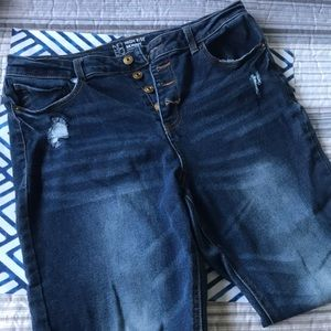 PLUS SIZE HIGH RISE SKINNY JEANS SIZE 17